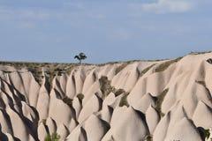 Sikt av det Cappadocia landskapet arkivfoton