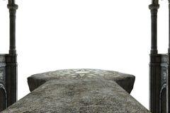 Sikt av det forntida altaret med en genomskinlig bakgrund Fotografering för Bildbyråer