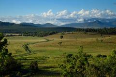 Sikt av det Grandchester området i Ipswichen/den sceniska kantregionen, Queensland Arkivfoto