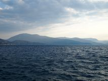 Sikt av det Ionian havet Arkivbild