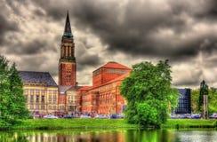 Sikt av det Kiel stadshuset Arkivfoton