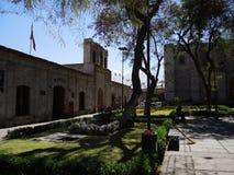 Sikt av det koloniala centret, Arequipa, Peru Royaltyfri Bild