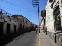 Sikt av det koloniala centret, Arequipa, Peru Royaltyfria Foton