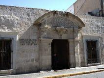 Sikt av det koloniala centret, Arequipa, Peru Arkivbild