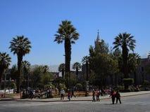 Sikt av det koloniala centret, Arequipa, Peru Royaltyfri Foto