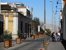 Sikt av det koloniala centret, Arequipa, Peru Arkivfoto