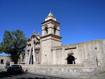 Sikt av det koloniala centret, Arequipa, Peru Royaltyfri Fotografi