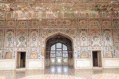 Sikt av det Lahore fortet Sheesh Mahal, Lahore, Punjab, Pakistan Royaltyfria Foton