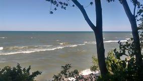 Sikt av det Lake Michigan fotografiet Royaltyfria Bilder
