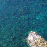Sikt av det Lampedusa havet royaltyfria foton