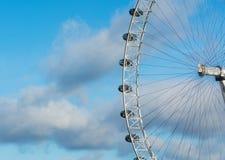 Sikt av det London ögat, England Arkivfoton