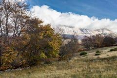 Sikt av det Maiella berget Royaltyfria Foton