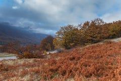 Sikt av det Maiella berget Arkivfoton