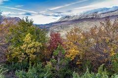 Sikt av det Maiella berget Royaltyfri Bild