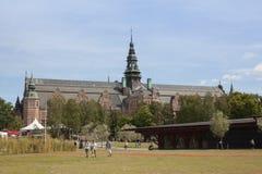 Sikt av det nordiska museet, Stockholm Arkivbilder