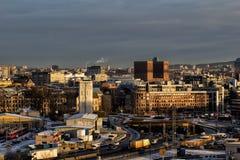 Sikt av det Oslo stadshuset arkivfoton