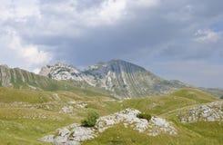 Sikt av det Prutash berget, Montenegro royaltyfria bilder