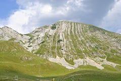 Sikt av det Prutash berget, Montenegro arkivbilder