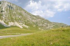 Sikt av det Prutash berget, Montenegro royaltyfri bild