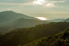 Sikt av det Samui landskapet på aftonen Royaltyfria Bilder