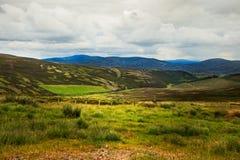 Sikt av det skotska Skotska högländernalandskapet Fotografering för Bildbyråer