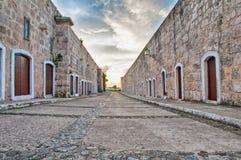 Sikt av det spanska fortet Royaltyfri Bild