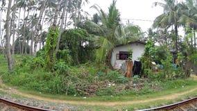 Sikt av det Sri Lanka drevet stock video