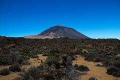 Sikt av det Teide vulkanmaximumet Arkivfoto