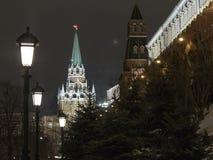Sikt av det Troitskaya tornet royaltyfri fotografi