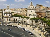 Sikt av det Venetian området och kyrkan Santa Maria di Loreto Arkivfoto