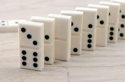 Sikt av dominobricka Royaltyfria Bilder