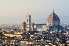 Sikt av domkyrkan av Florence, Italien Arkivbilder