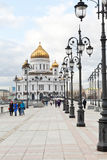 Sikt av domkyrkan av Kristus frälsaren, Moskva Royaltyfri Fotografi