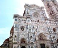 Sikt av domkyrkan Santa Maria del Fiore i Florence Fotografering för Bildbyråer