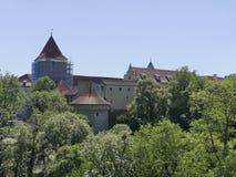 Sikt av domkyrkan av St Vita i Prague Arkivbilder