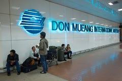 Sikt av Don Mueang International Airport Arkivbild