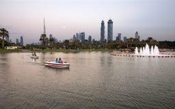 Sikt av Dubai horisont Arkivbilder