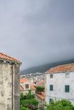 Sikt av Dubrovnik den gamla staden från stadsväggarna Royaltyfria Bilder
