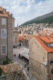 Sikt av Dubrovnik den gamla stadfyrkanten arkivbild