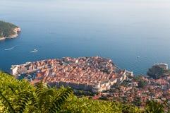 Sikt av Dubrovnik från det Srd berget Royaltyfria Foton