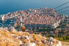 Sikt av Dubrovnik från det Srd berget Fotografering för Bildbyråer