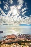 Sikt av Dubrovnik från monteringsSdr Royaltyfria Bilder