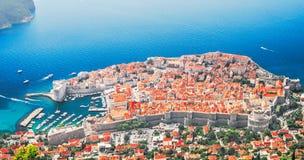 Sikt av Dubrovnik från observationsdäcket Royaltyfria Bilder