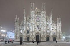 Sikt av duomoen, milan, Italien Arkivfoton
