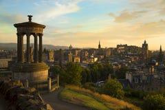Sikt av Edinburgstaden från Carlton Hill Royaltyfri Foto