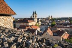 Sikt av Eger från slotten av Eger, Ungern Royaltyfria Foton