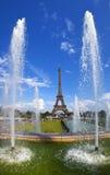 Sikt av Eiffeltorn från Trocaderoen i Paris Royaltyfri Foto