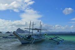 Sikt av El Nido Det är en 1st gruppkommun i landskapet av Palawan, Filippinerna arkivfoton