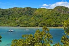 Sikt av El Nido Det är en 1st gruppkommun i landskapet av Palawan, Filippinerna royaltyfria bilder
