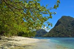 Sikt av El Nido Det är en 1st gruppkommun i landskapet av Palawan, Filippinerna royaltyfria foton